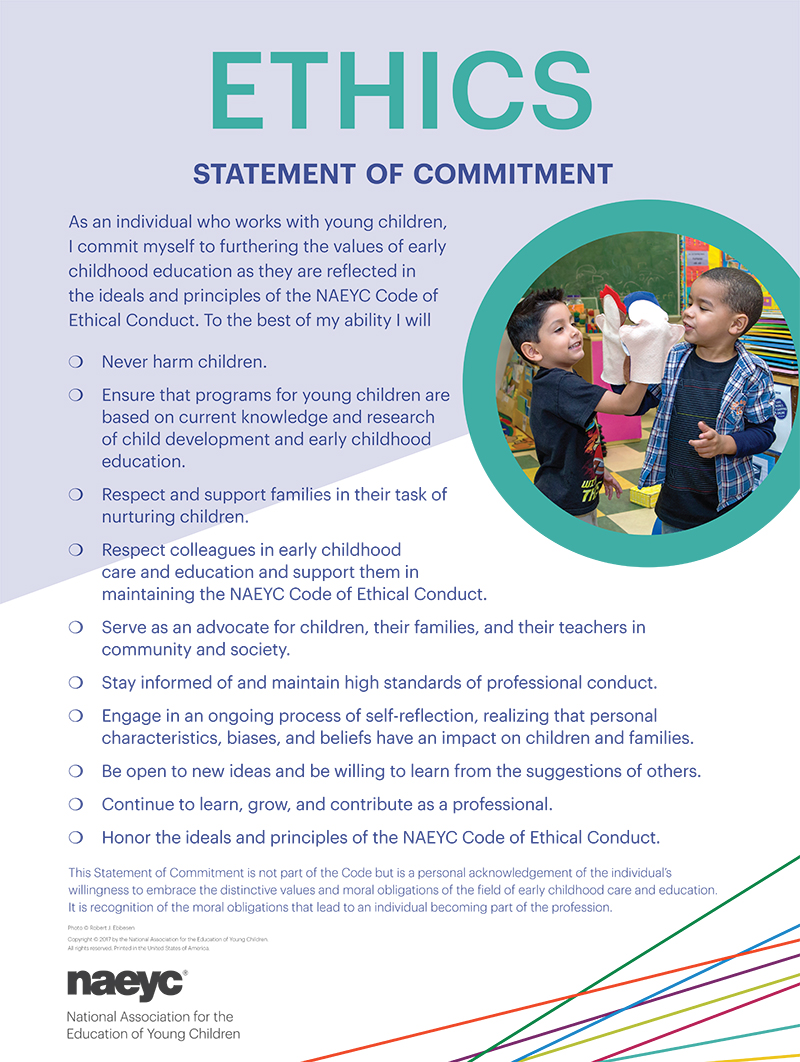 naeyc code of ethics Naeyc code of ethical conduct naeyc 7 videos 5,473 views last updated on jul 5, 2016 play all share  naeyc code of ethical conduct - part 6 of 7 by naeyc 10:22 play next.